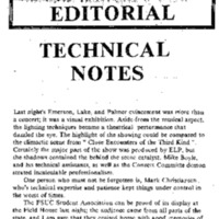 Editorial, Cardinal Points, February 9, 1978&lt;br /&gt;<br />