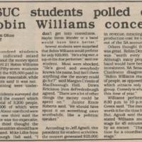 Concert poll, Cardinal Points, April 24, 1986&lt;br /&gt;<br />