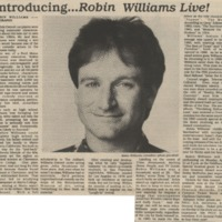 Biography of Robin Williams, Cardinal Points, April 10, 1986&lt;br /&gt;<br />